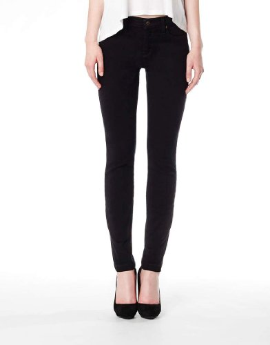 Second Yoga Jeans Women's Highrise Skinny Ankle In Black 32 x 33