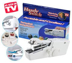 HEAVY DUTY HANDHELD PORTABLE SEWING MACHINE WITH FREE BONUS FOR FAST & EASY USE.