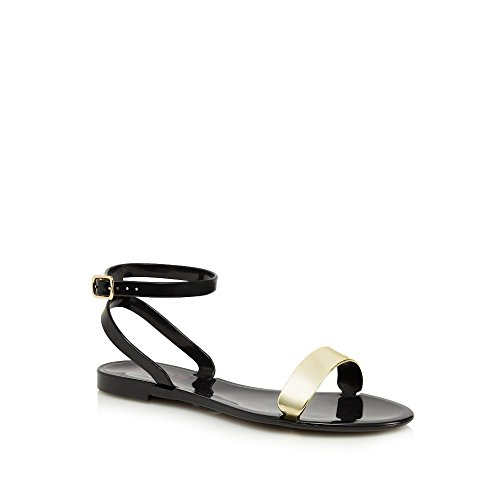 floozie-by-frost-french-womens-black-metallic-strap-jelly-sandals-5
