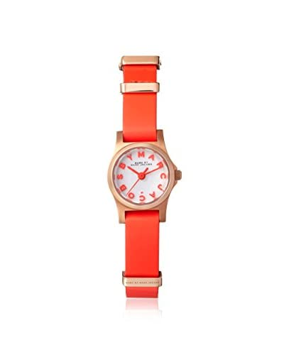 Marc by Marc Jacobs Women's MBM1315 Henry White/Red Stainless Steel/Leather Watch