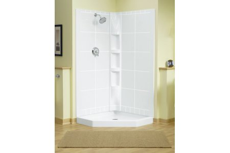 Sterling Plumbing 72040106 96 Intrigue Neo Angle Tile 39 Inch X 39 Inch X 79
