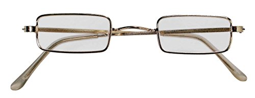 Forum Novelties Men's Square Novelty Glasses, Metallic, One Size - 1