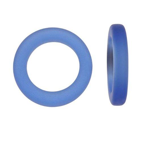 cultured-sea-glass-donut-rings-23mm-diameter-cobalt-blue-2-pieces