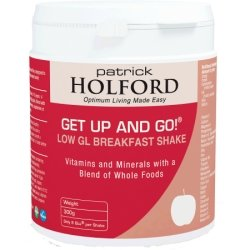 Patrick Holford Get Up and Go Low GL Breakfast Shake - 1000g Powder