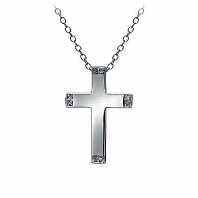 Hot Diamonds Sparkle Cross Pendant of 40cm + 6cm Extender