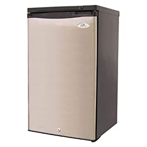 3 1 cu ft compact upright freezer with 4 pull out. Black Bedroom Furniture Sets. Home Design Ideas