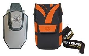 Body Glove Grand étui universel Fashion MP3 Orange vif/noir livré avec de multiples accessoires: clip ceinture et cordon  (Import Royaume Uni)