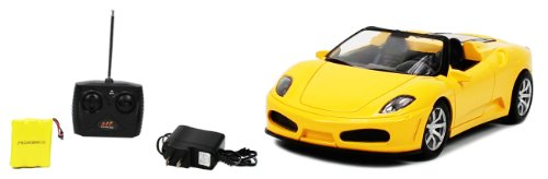 Ferrari F430 Roadster 1:18 Electric RTR RC Car Rechargeable (Yellow) Remote Control
