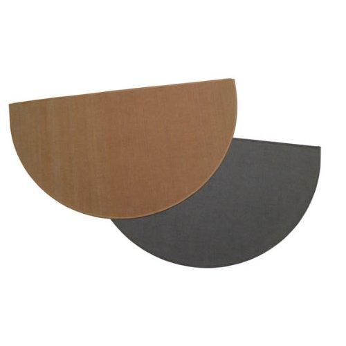 Copperfield 47150 Charcoal Half Round Hearth Rug, 27 x 48 Inch, 100% Fiberglass