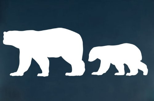 Vinyl Wall Art Decal Sticker Polar Bear Set (Big) Mother & Baby