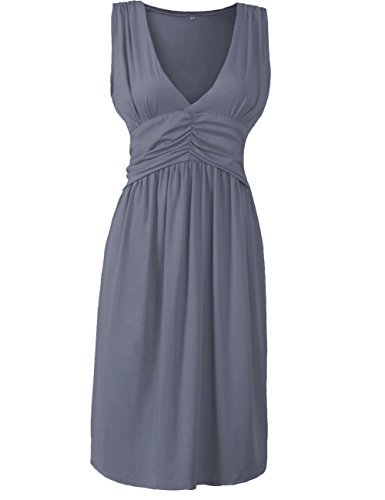 anca-demi-womens-v-neck-sleeveless-fit-and-flare-ruched-waist-skater-dress-plus-gray-large