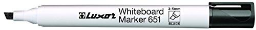 luxor-chisel-tip-white-board-marker-black-box-of-10