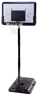 1221 Lifetime Pro Court Height-Adjustable 44in Backboard Portable Basketball Hoop System