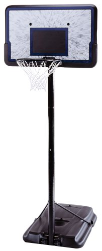 Lifetime 1221 Pro Court Height-Adjustable Portable Basketball System with 44-Inch Backboard picture
