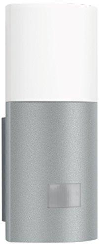Uplight L 900 LED silber - LED Sensorleuchte mit 7 Watt und 400 Lumen, Wandleuchte mit 180° Bewegungsmelder und max. 12 m Reichweite, Außenleuchte aus Aluminium und Kunststoff, 576318
