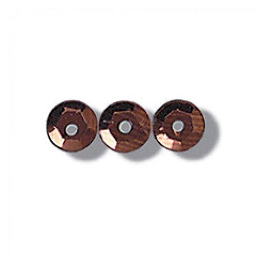 Impex Pailletten, zum Basteln, 5 mm, Bronze, Tasse (500pk)