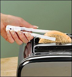 Toaster Tongs, Set of 2, Safely Remove Hot Bread From Toaster