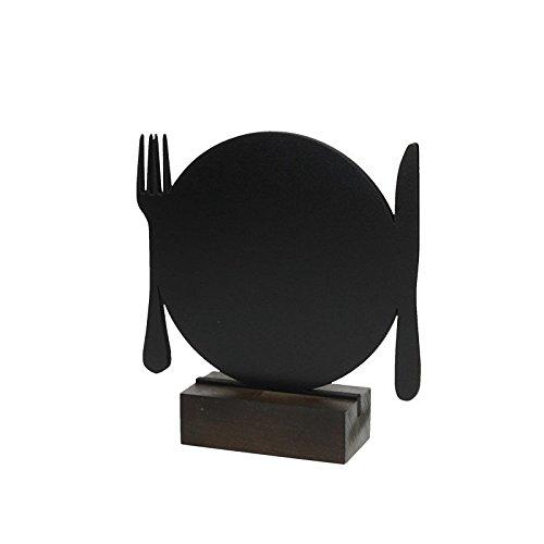 Holz-Tischaufsteller-Werbetafel-Preisschild-Werbeaufsteller-Kreidetafel-Tafel-Tisch-Echtholz-Tischtafel-Formtafel-Modell-2