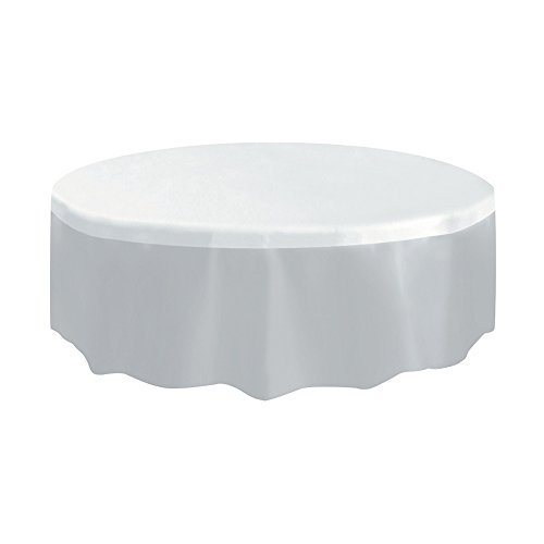 Plastic Round Table Cover, Clear, 84