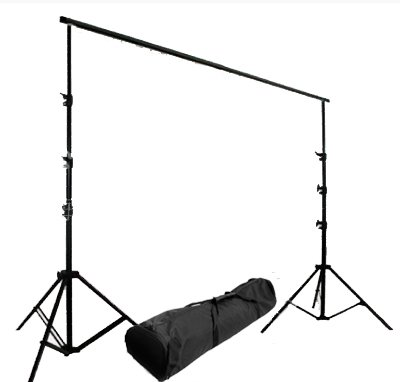 CowboyStudio Photography Backdrop Support System/Crossbar - 2x 8 ft Stands and 10ft Cross Bar with Carrying Case