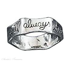 Sterling Silver Unisex I Will Always Love You Ring
