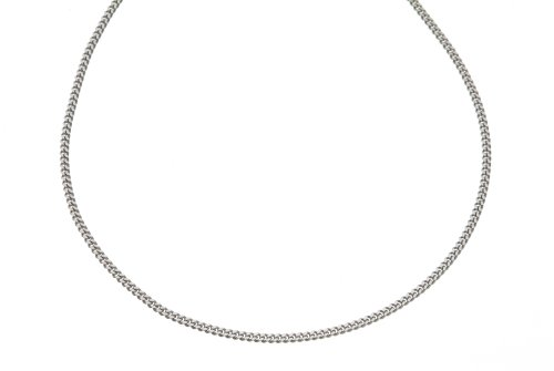Pendant Necklace, 9ct White Gold Curb Chain, 46cm Length, Model 50 UKDW