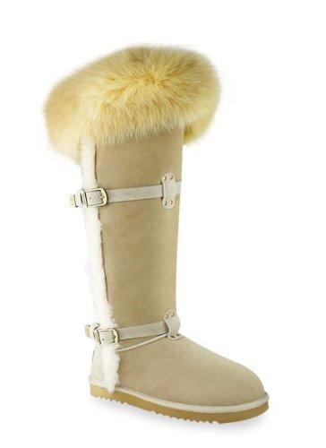 Women Boots Aukoala Australia Sheepskin Warm Boots For Womens Carlotta Tall Us Size 7 Sand