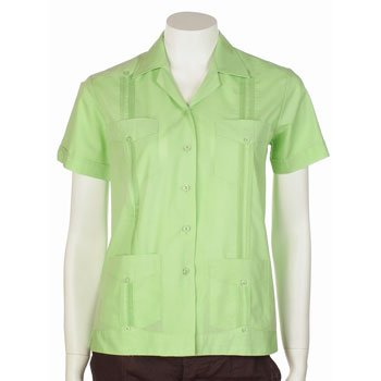 Guayabera shirt for women basic style polycotton