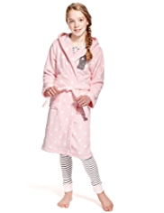 Tatty Teddy Hooded & Spotted Dressing Gown