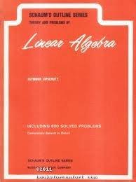 Linear Algebra Schaum PDF