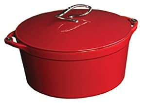 Lodge L Series E6D40 Enameled Cast Iron Dutch Oven, Patriot Red, 6-Quart
