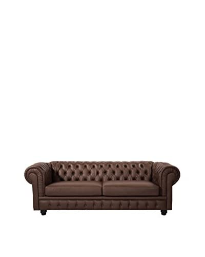 Kardiel Chesterfield Style Classic Modern Sofa, Brown