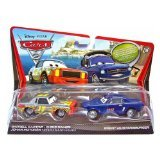 Disney/Pixar Cars 2 Movie Die-Cast Vehicles, Darrell Cartrip and Brent Mustangburger, 1:55 Scale
