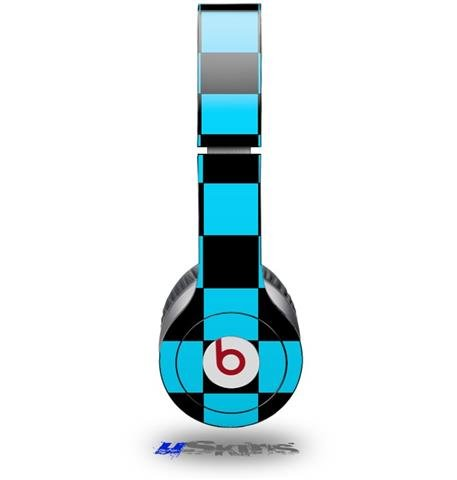 Checkers Blue Decal Style Skin (Fits Beats Solo Hd Headphones - Headphones Not Included)