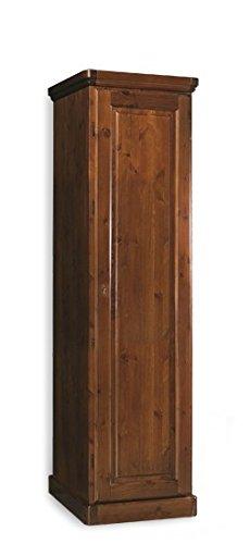 Armadio in legno rustico 1 porta H 148 cm-Grezzo (Non verniciato)