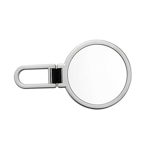 Danielle Enterprises Handheld Folding 10X Magnification Mirror, Silver front-436064