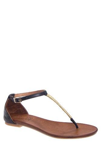 Caspian T-Strap Flat Thong Sandal