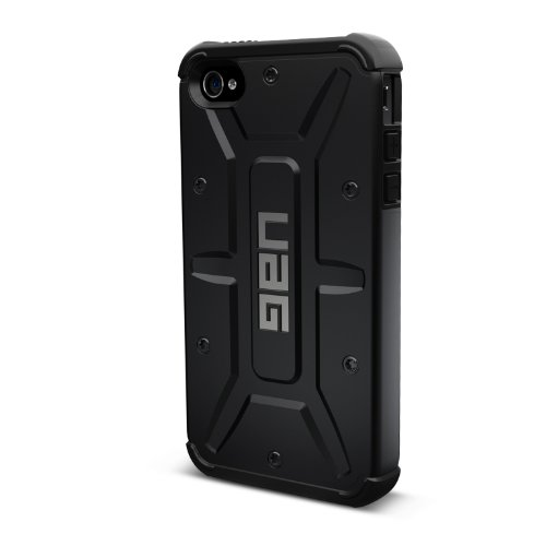 Urban Armor Gear IPH4S-COMP-BLK iPhone 4/4S Composite Case With Impact Resistant Bumpers – Black