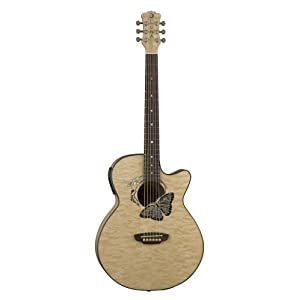 Amazon.com: Luna Fauna Series Butterfly Cutaway Acoustic-Electric