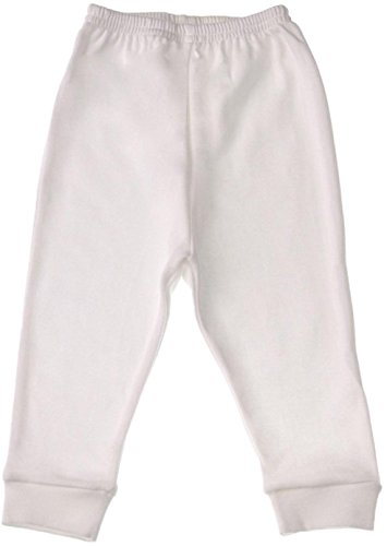 Baby Jay Unisex Baby Tight Fitting Cotton Leggings, White, 6-12 Months