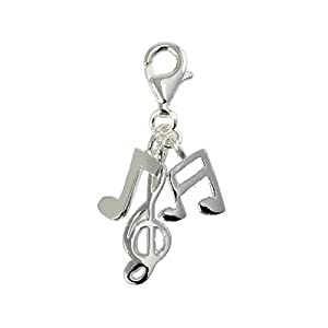 SilberDream Charms - Charm Note de musique en argent pour charmes colliers bracelets boucles d'oreilles - Argent 925 Sterling - FC3127