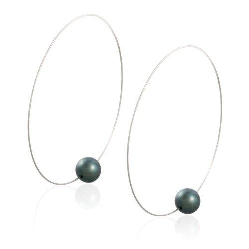 Tahitian Pearl Hoop Earrings