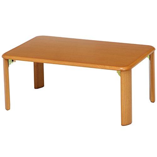 不二貿易 折脚ローテーブル ナチュラル 7550MTNA 折りたたみ式 幅75x奥行50cm 91822