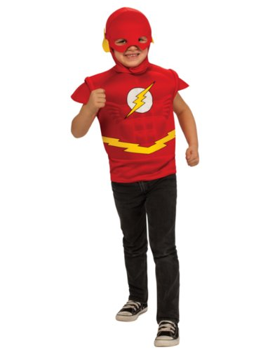 The Flash Muscle Chest Shirt Kids Costume