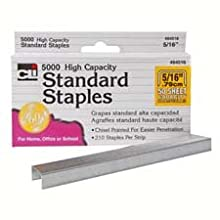 Charles Leonard Inc. Standard Staples,  5000/box (84516)