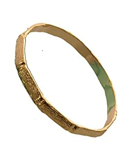 "18K Gold Layered ""Bamboo"" Baby Bangle Bracelet 0-9 Months"