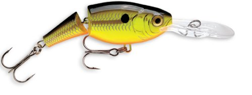 Rapala Jointed Shad Rap 05 Fishing lure, 2-Inch, Chartreuse Black