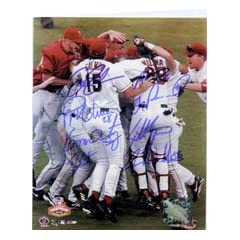 Signed Angels, Anaheim (2002 World Series Champions) 8x10 by the 2002 Anaheim Angels...