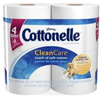 Cottonelle Clean Care Toilet Paper is strong and absorbent with soft ripples to provide extra comfort.