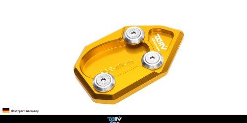 Dimotiv Dmv Side Stand Enlarger For Mv Agusta 1078 07-11, F4, 990R (Gold) Pack Of 2
